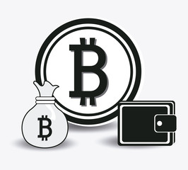 Bitcoin design, vector illustration.