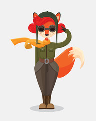 military fox-pilot that upstanding and salute