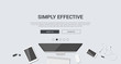 Mockup modern flat design for creative simply effective - 79413046