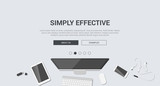 Mockup modern flat design for creative simply effective