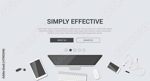 Mockup modern flat design for creative simply effective