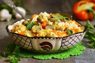 Vegetarian pilaf.