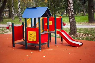 Colourful children playground equipment