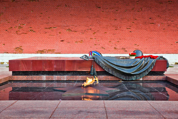 Eternal flame in Moscow, Russia