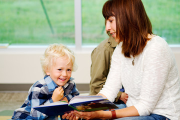Youngster enjoying story