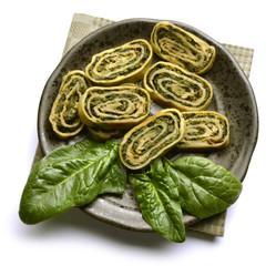 Spinach roll Rotolo di spinaci Rollo de espinacas Ispanak rulo