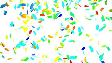 colorful confetti falling seamless loop with luma matte