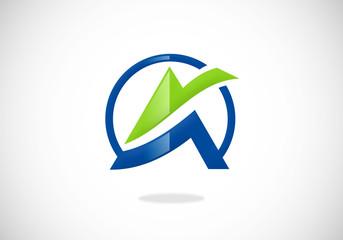 finance logo letter A vector