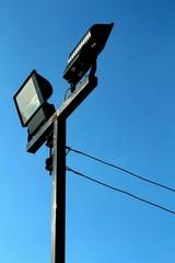 spotlight on blue sky