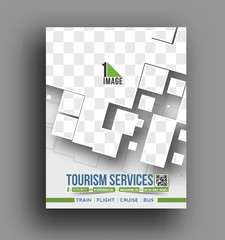Vector Travel front, flyer,& poster template