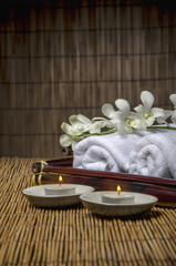Prepared items for spa treatment
