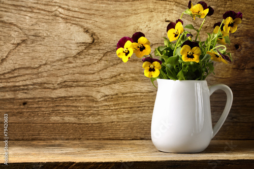 Canvas Pansies Pansy flower