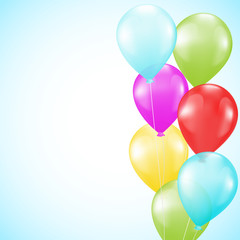 background with bright colorful balloons