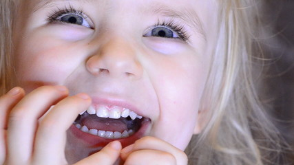 Baby Girl Laughing and Having fun at kindergarten.