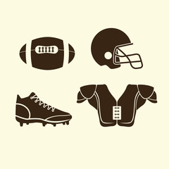 flat icons American football