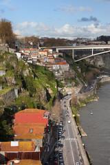 City of Porto in Portugal along Douro River