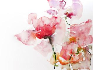 blumen aquarell papier