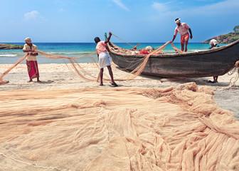 Traditional asian fishing nets