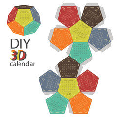 Scheme of 3d calendar - do it yourself - DIY
