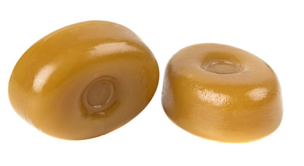 Two caramel candies
