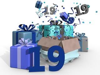 Cadeaus en feest voor man van 19