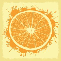 Vector illustration. Orange.