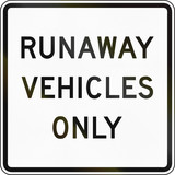 Runaway Vehicles Only poster