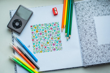 coloring with pencil