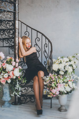 Romantic young woman portrait