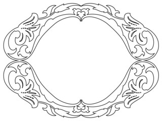 oval baroque ornamental decorative frame