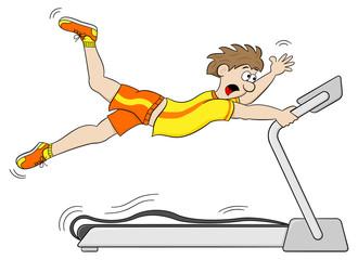 zu schnelles Laufband Workout