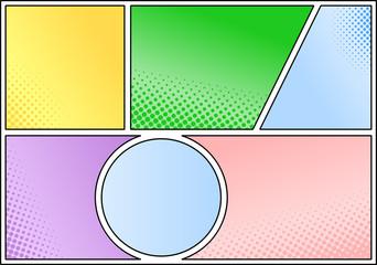 Comic Rahmen als Hintergrund