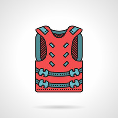 Pink paintball vest vector icon