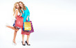 Two attractive girls on the shopping