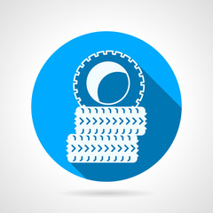 Round vector icon for tires