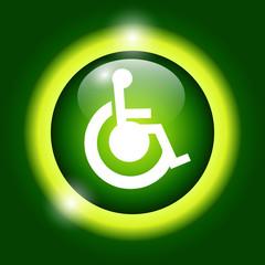 cripple Flat green Simple Icon