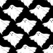 Danger ghosts seamless pattern