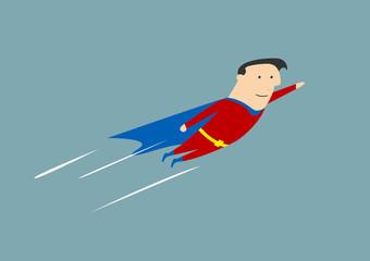 Flying businessman hero
