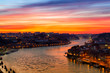 Old city of Porto at sunset, Portugal