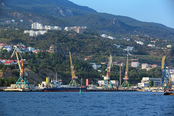 Cargo-passenger Yalta port, Republic of Crimea