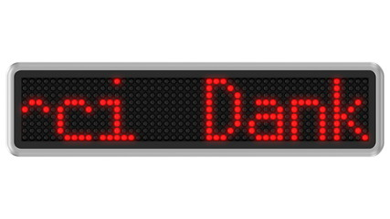 4K - Led dot display with Thank You text message