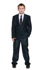 Schoolboy in the suit