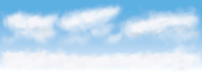 vector image of clouds