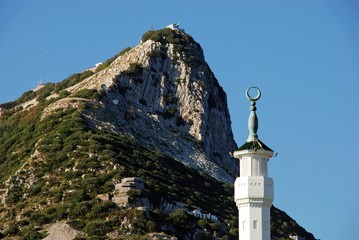 Mosque tower and Rock, Gibraltar © Arena Photo UK