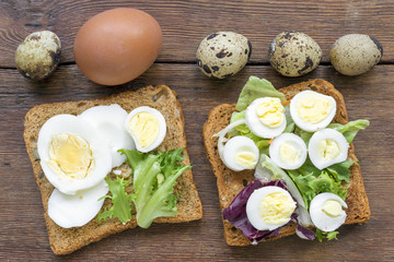 boiled egg toasts