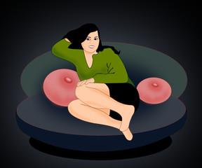 Girl in Sofa