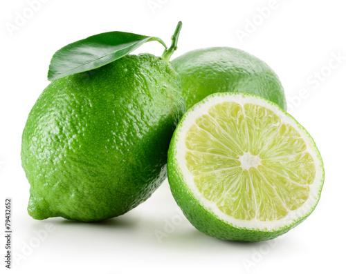 Foto op Aluminium Vruchten Lime. Group of fruit isolated on white