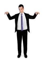 Business man puppeteer