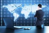global business map - Fine Art prints