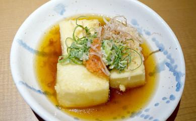 japanese fried tofu dish